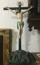Crucifix - Carved wood - H: 25
