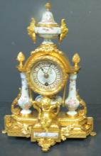 F. Linke Clock w/ Cherubs Museum Quality 1900
