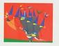 Robert CRIPPA (XX)  Sans titre  Lithographie en couleurs sur papier  signé en bas à droite. Numéroté 437/500 en bas à gauche  55 x 75 cm