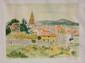 Yves BRAYER (1907-1990)   Vue de Saint Tropez  lithographie en couleur sur papier  signé en bas à droite . Numéroté 61/180 en bas à gauche   57 x 75 cm