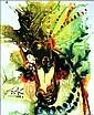 Salvador DALI (1904-1989)  Bucéphale, les chevaux daliniens  Céramique d'après une aeuvre originale peinte par l'artiste en 1971  Signé en haut à gauche. Tirage limité à 490 exemplaires numérotés de numérotés de I/XD à XD/XD  25 x 20 cm