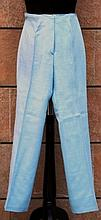 HERMES SPORT  Pantalon toile bleu ciel.