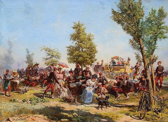 Charles Dominique Oscar LAHALLE (1832-1909)  Jour d'Indépendance