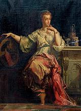 Charles LANDELLE (1821-1908)  Portrait de Marie de Médicis.