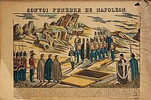 Ensemble de trois images d'Epinal, sur le thème de Napoléon Bonaparte :