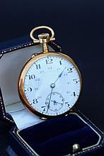 Importante montre de gousset en or jaune