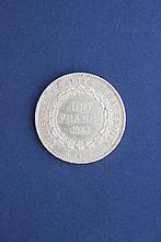 1 pièce or 100 francs Génie, 1885