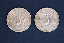 2 pièces de 50 pesos en or (1821 - 1947 )