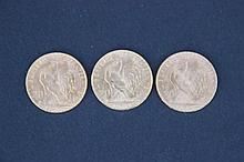 3 Pièce de 20 Francs en or  - France - Marianne, Coq