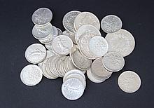 Lot de pièces en argent (francs)