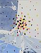 Gérard FROMANGER (1939)  Composition aux micros  lithographie en couleurs signé en bas à droite et numéroté 104 / 300 en bas à gauche.  74 x 59 cm.