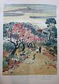 Yves BRAYER (1907-1990)   Chasseur sur un chemin en Provence - 1972  Lithographie sur papier.   Signé en bas à droite. Justifié EA en bas à gauche.  82 x 56 cm (rousseurs)