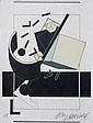 Alain LE YAOUANC (1940)   Composition géométrique    Lithographie en couleurs sur papier Japon.  Signé en bas à droite. Justifié EA en bas à gauche.  43 x 32 cm