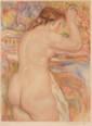 Auguste RENOIR (1841-1919), d'après  Nu féminin  Aquatinte en couleurs.  Annoté