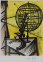 Bernard BUFFET (1928-1999)   L'astrolabe - 1968  Lithographie en couleurs sur papier.   Signé en bas à droite, signé et daté au centre et à droite (planche).  63 x 44  cm