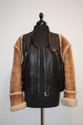 DOLCE et GABBANA - blouson en cuir noir, deux poches zippées, manches en mouton retourné,   taille 42 / 44. Bon état.