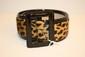 Gérard DAREL - ceinture en cuir verni noir et imitation léopard. Taille 80. Très bon état.