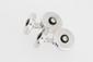 Paire de boutons de manchettes cylindriques en or gris enrichis de brillants. P 11,4g