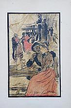 Théophile Alexandre STEINLEN (1859-1923)  Scène de cabaret parisien
