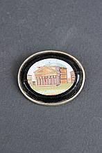 Médaillon en micro mosaïque représentant le Panthéon à Rome