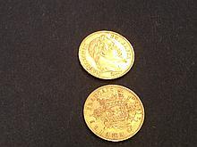 2 Pièces de 20 Francs en or  - France - Napoléon III
