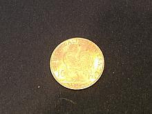 1 Pièce de 10 Francs en or- France - République, Coq