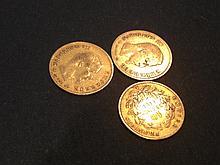 3 Pièces de 10 Francs en or - France - Napoléon III