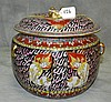 Thai porcelain covered pot. H:8.5