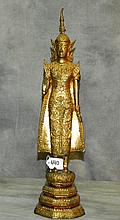 Antique Gilt Thai Buddha. H:21