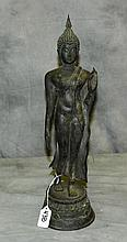 Antique bronze buddha. H:17.5