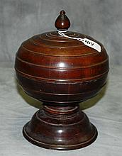 Wood covered footed box. H:10