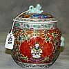 Thai porcelain covered jar. H:6.5
