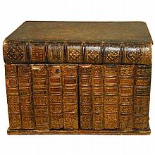 Antique French book form tantalus. H:11.5: W:16