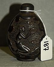 Chinese carved snuff bottle. H:4