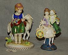 Two Capodimonte porcelain figures. H:7.25