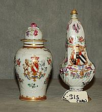 Two Chinese export style porcelain pieces. H:6.75