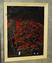 Florida Highwaymen oil on canvas signed C. Wheeler.