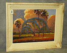 Florida Highwaymen painting oil on board by W. Daniels