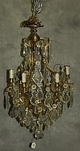 Baccarat style bronze and crystal 8 light. H:32