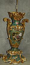 Large 19th C painted and gilt old paris porcelain vase