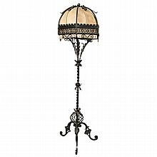Wrought iron floor lamp. H:77