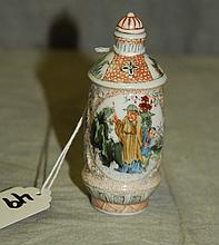 Chinese antique porcelain snuff bottle with 4 character