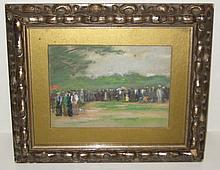 Impressionist School Pastel on Artist Board