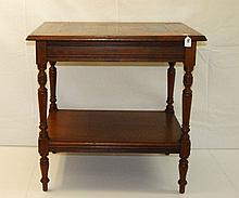 Italian Mahogany single drawer inlaid game table. H:31