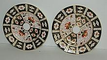 Pair Royal Crown Derby porcelain plates. D:8.5
