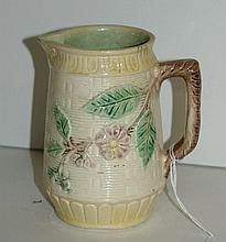 American 19th/20th C Majolica pitcher . H:5.25