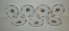 Set of 19th C Old Paris porcelain hand painted plates.