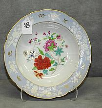 19th C English hand painted porcelain bowl. D:9.5
