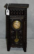 19th C country French miniature grandfather clock.