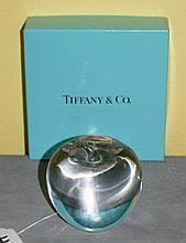 Tiffany and company crystal apple in original box.